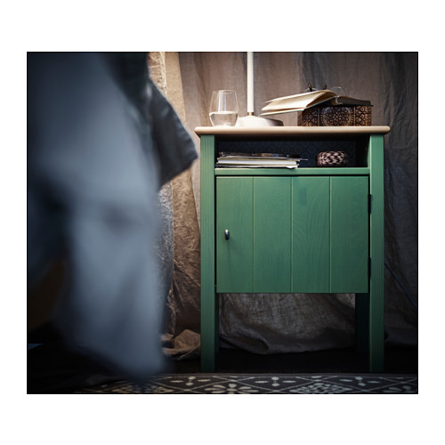 hurdal-bedside-table-green