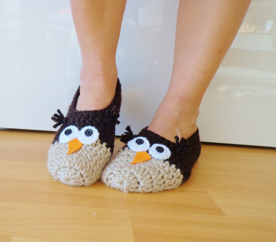 crochet-owl-slippers-woman-accessories