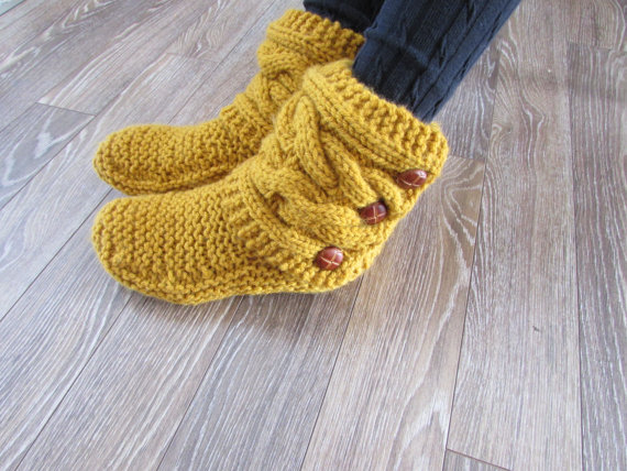 gold-knitted-cozy-slippers-women