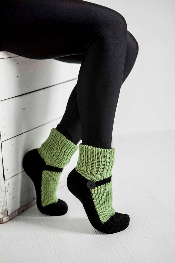 knit-slipper-sock-adult-mary-jane-green-slipper