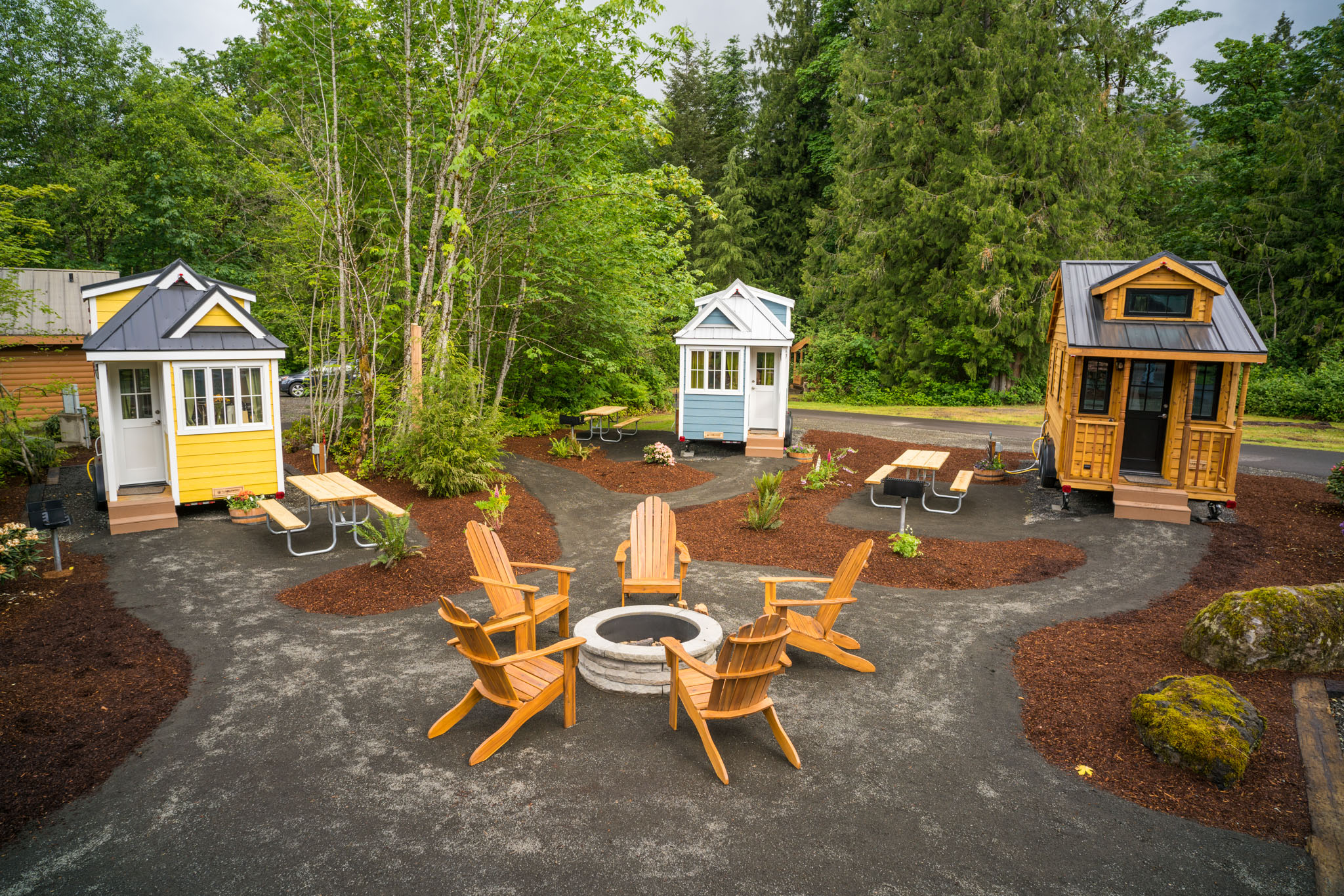 Mt hood tiny house village for Micro house