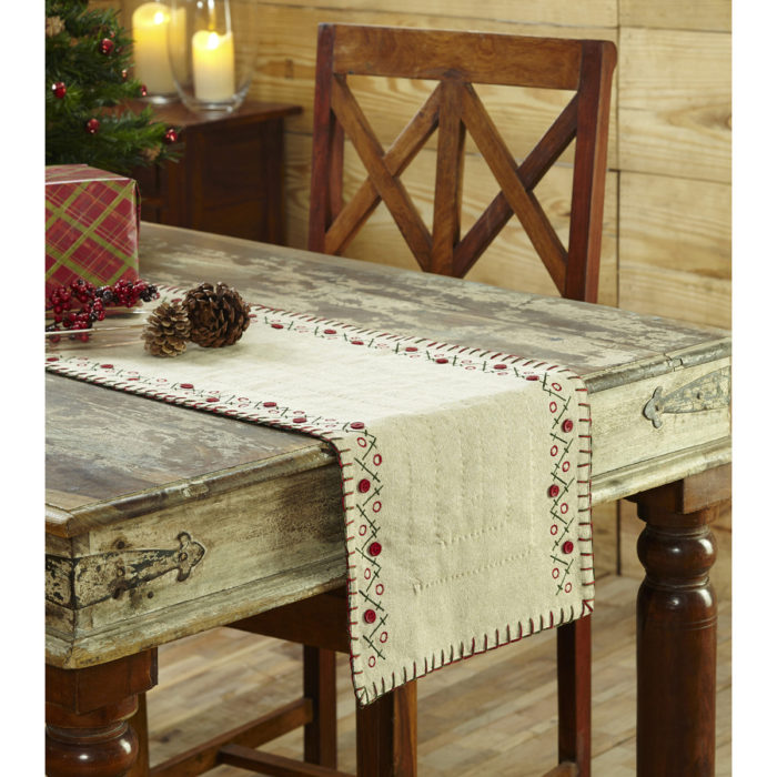 Tidings-Table-Runner-rustic-sown-buttons-red-wayfair