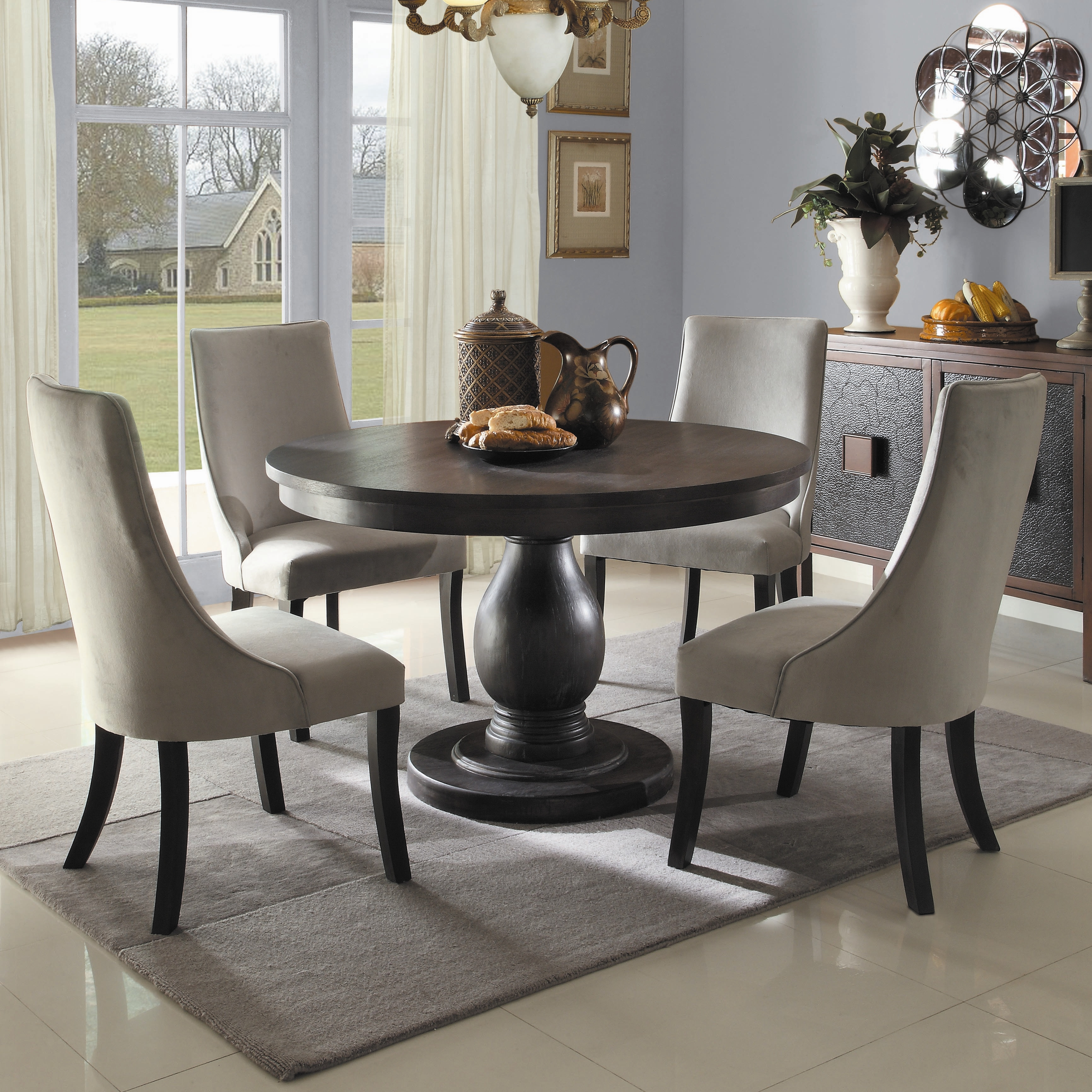 Turn Everything Off And Take A Seat At These Dining Tables - Wayfair black dining table