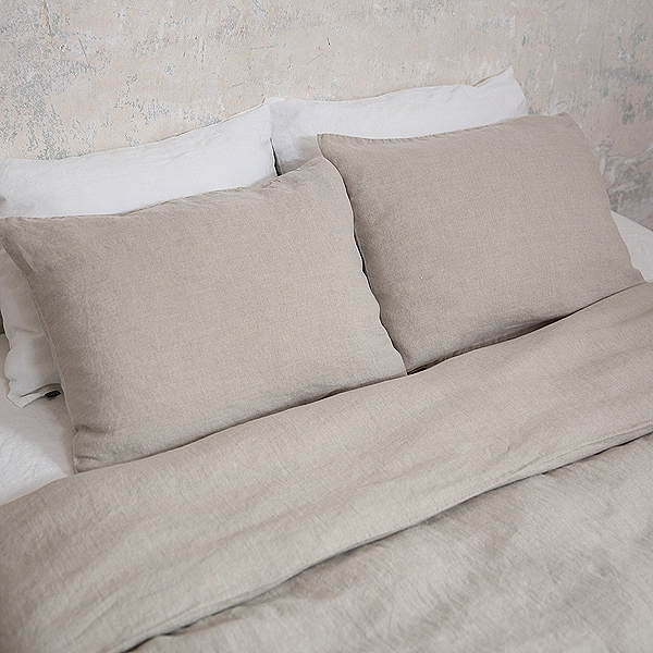 STONE WASHED BED LINENS IN NATURAL