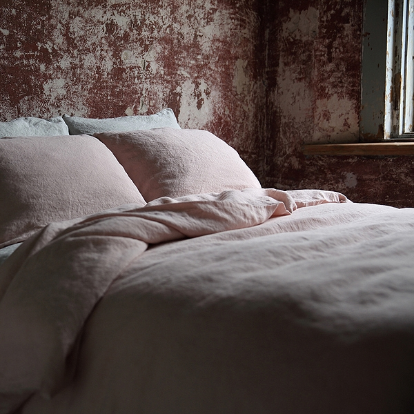 STONE WASHED BEDLINEN SET ROSA