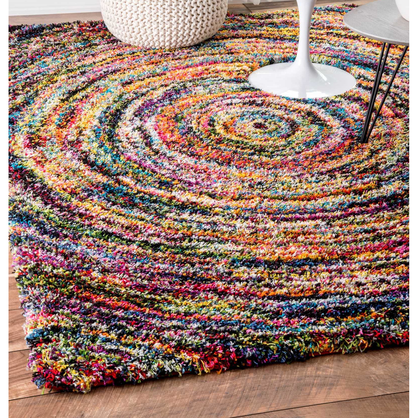 Area rugs color series rainbow road for Accent rug vs area rug