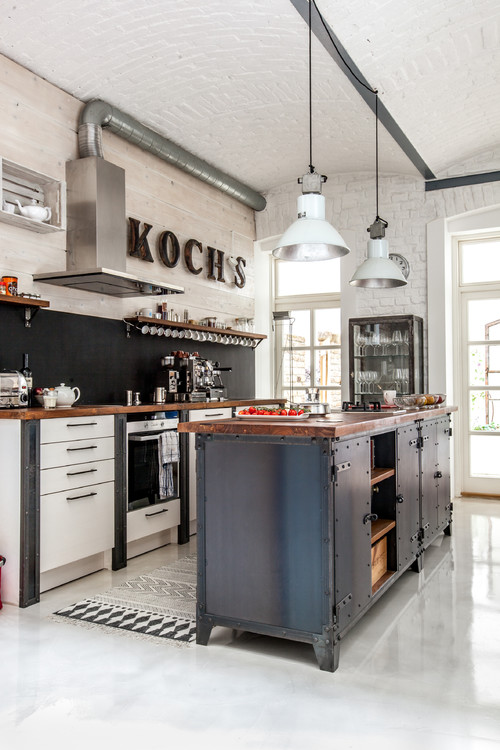 Industrial Style Kitchens | via Houzz