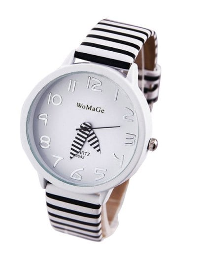 Chic Stripe Pattern Watch