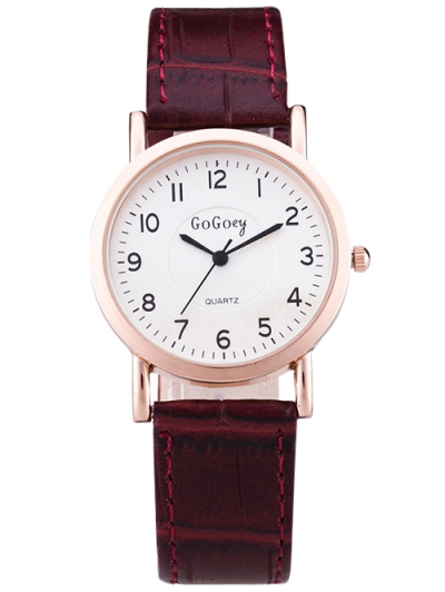 PU Leather Quartz Watch